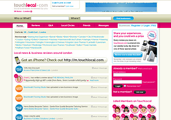 Touch Local London business directory