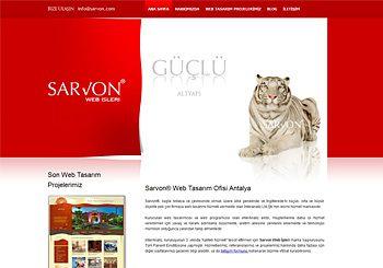 Sarvon Web Tasarımı