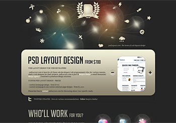 Psd web layout design