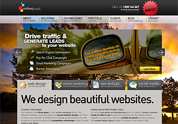 Shifted Pixels – Web Design Sydney