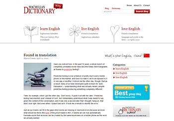 Macmillan Dictionary Blog