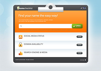 NameChecklist – Find your name the easy way!