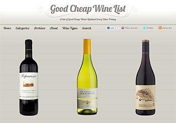 Good Cheap Wine List