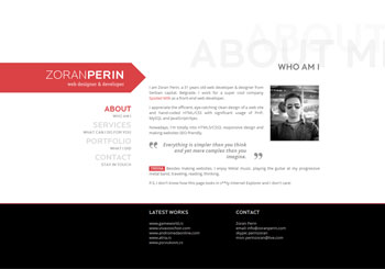 Zoran Perin – web designer & developer