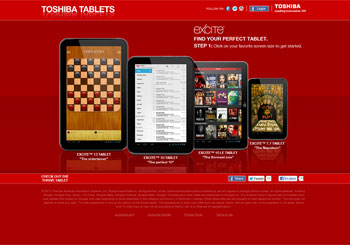 The Toshiba Tablets