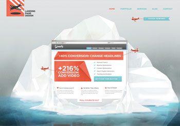 Ice Landing Page Design